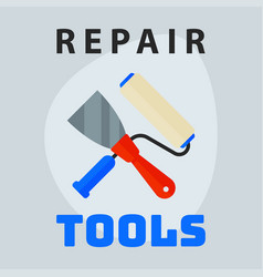 Repair tools spatula roller icon creative graphic vector