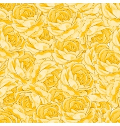Roses floral background seamless pattern vector image vector image