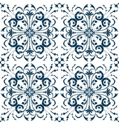 Seamless Pattern Vintage Victorian Tile vector image vector image