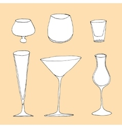 Set of different glass vector