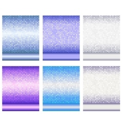 Set of luxury metallic shiny backgrounds vector