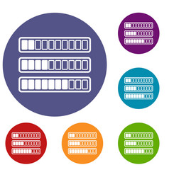 sign horizontal columns download online icons set vector image vector image