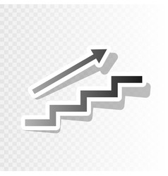 Stair with arrow new year blackish icon vector