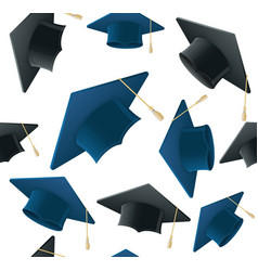 Student hat pattern background vector