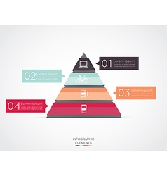 Triangle infographic for business project vector
