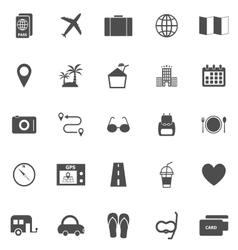 Trip icons on white background vector image