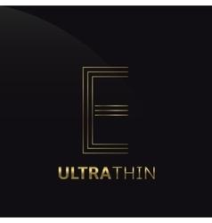 Ultrathin e letter vector