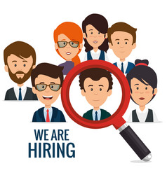 We are hiring business concept vector