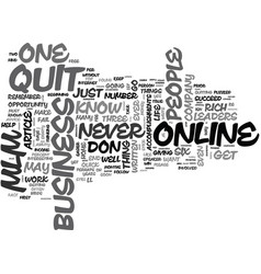 why fail in mlm online business text word cloud vector image