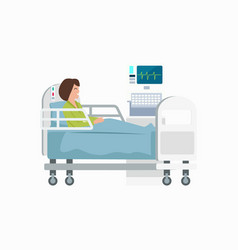 woman on hospital bed icon vector image vector image