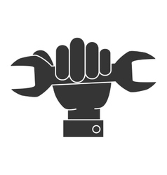 wrench tool repair hand icon graphic vector image