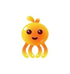 Yellow Balloon Octopus Character vector image
