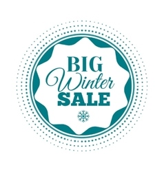 Winter sale label badge logotype of winter sale vector
