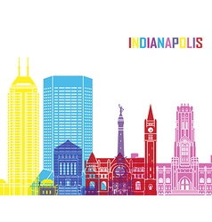 Indianapolis skyline pop vector