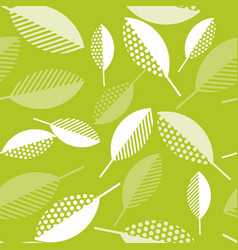 Spring green leaves abstract  seamless pattern vector