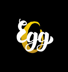 egg handwritten calligraphy vector image