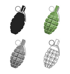 Grenade icon cartoon single weapon icon from the vector