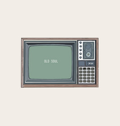 Retro tv television sketch vector
