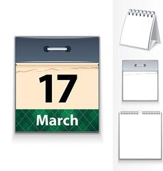 17 march calendar vector