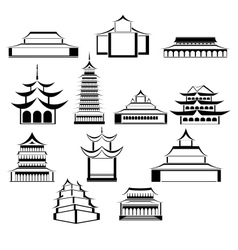 Eastern architecture vector