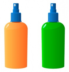 sun protection bottle vector image