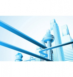 futuristic cityscape vector image