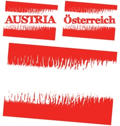 Abstract flag of austria vector