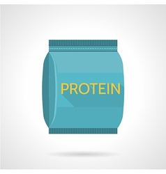 Protein pack flat icon vector