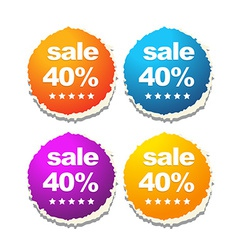 colorful sale labels vector image