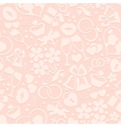 Pale romantic seamless pattern vector