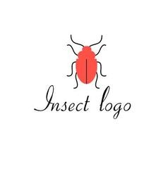 Graphics icon red beetle isolated vector