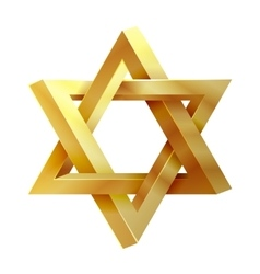 Judaism star seal of solomon icon vector