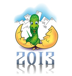 newborn snake as symbol of New Year vector image