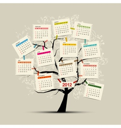 Calendar tree 2012 for your design vector image