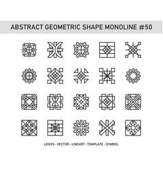 Abstract geometric shape monoline 50 vector