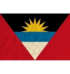 Antigua and Barbuda paper flag vector image