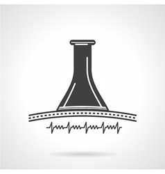 Black icon for obstetrics stethoscope vector image