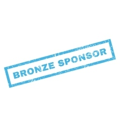 Bronze sponsor rubber stamp vector
