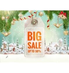 Christmas Sale tag EPS 10 vector image