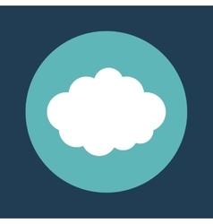 Cloud emblem on blue background icon image vector
