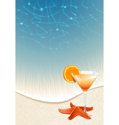 Cocktails on the beach vector