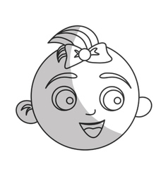 Cute baby face icon vector
