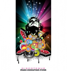 dance music party vector image