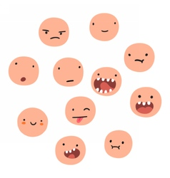 Different cartton face emotions vector image vector image
