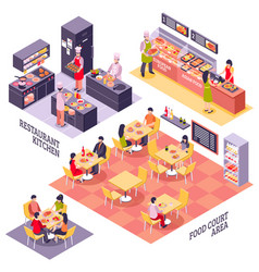 food court design concept vector image