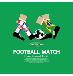 Football match vector