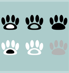 footprint icon black grey white vector image vector image