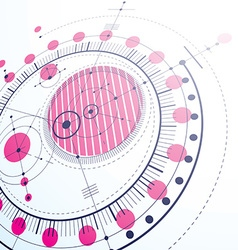 Geometric technology 3d drawing magenta technical vector image vector image