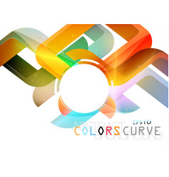 Glossy curve colors concepts vector