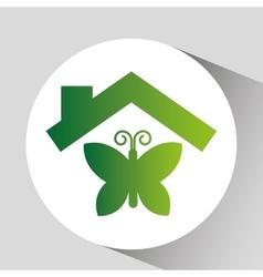 Green ecology fauna symbol design vector